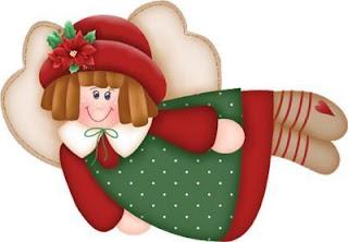 Imagens para decoupage de anjos natalinos