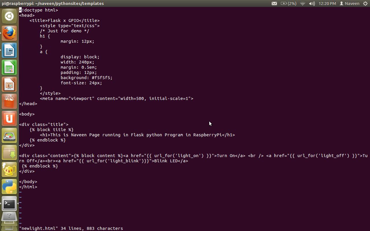 My Tech Mind: Raspberry Pi Flask python web page to control the LED