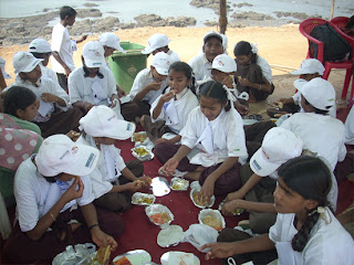 Mid-day meal time at Aarambh, Panvel