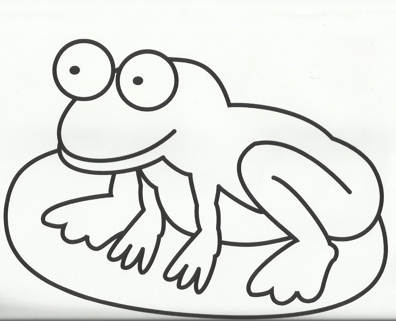 great fun frog to colour in - Colour In Stencils