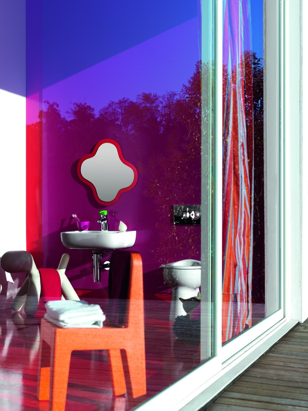Home Interior Design Ideas Vibrant Multi Colored Interior Design For Kids Bathing Room