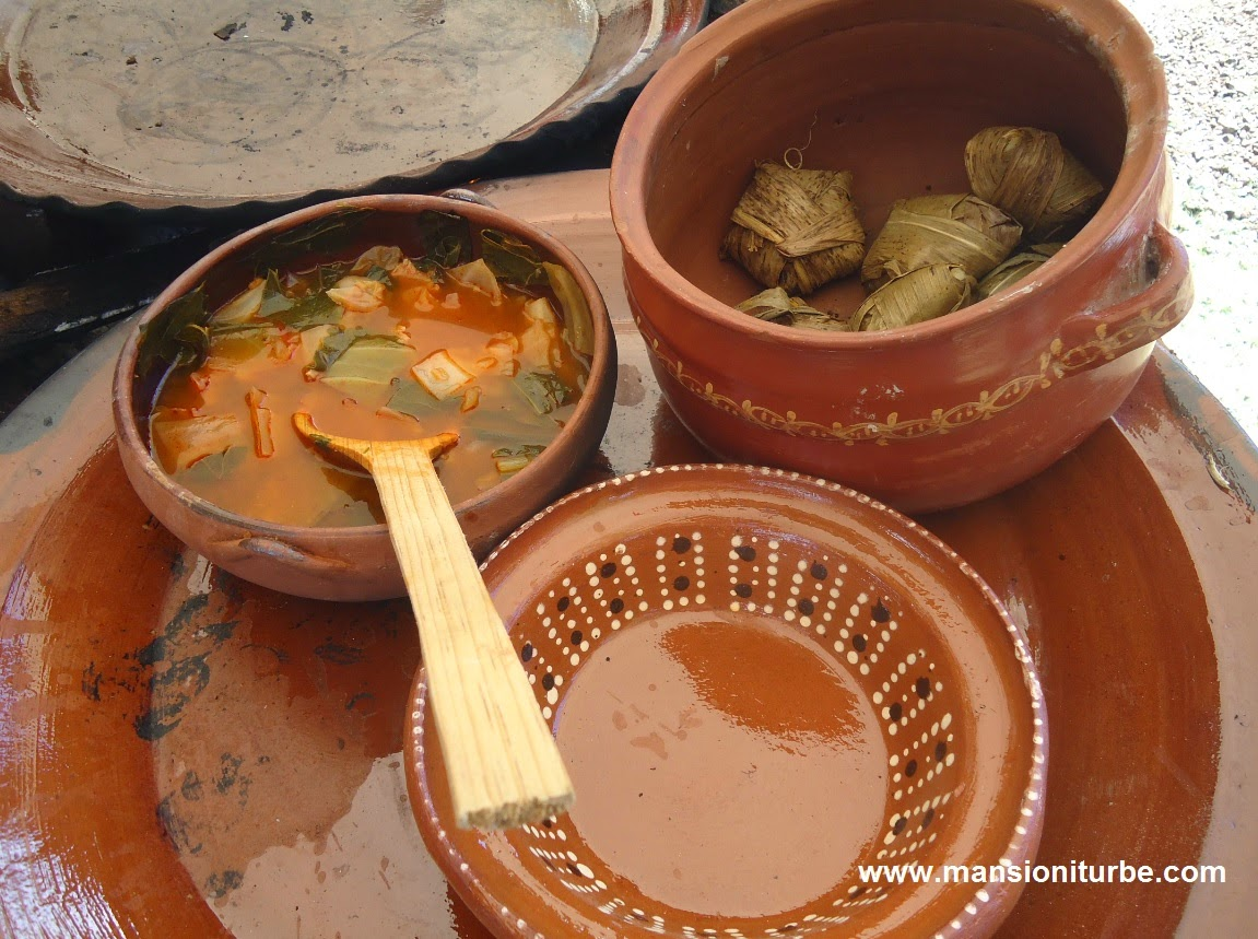 Mexican traditional cuisine from Michoacán at the Palm Sunday festivities in Uruapan