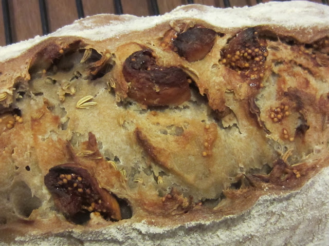... the crumb moist and flavoursome with a nice balance of fig and fennel