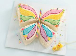 طريقة جديدة ومبتكرة لتقطيع الكيكة على شكل فراشة