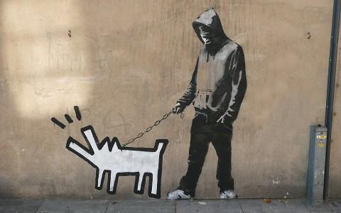 Haring Dog  Banksy