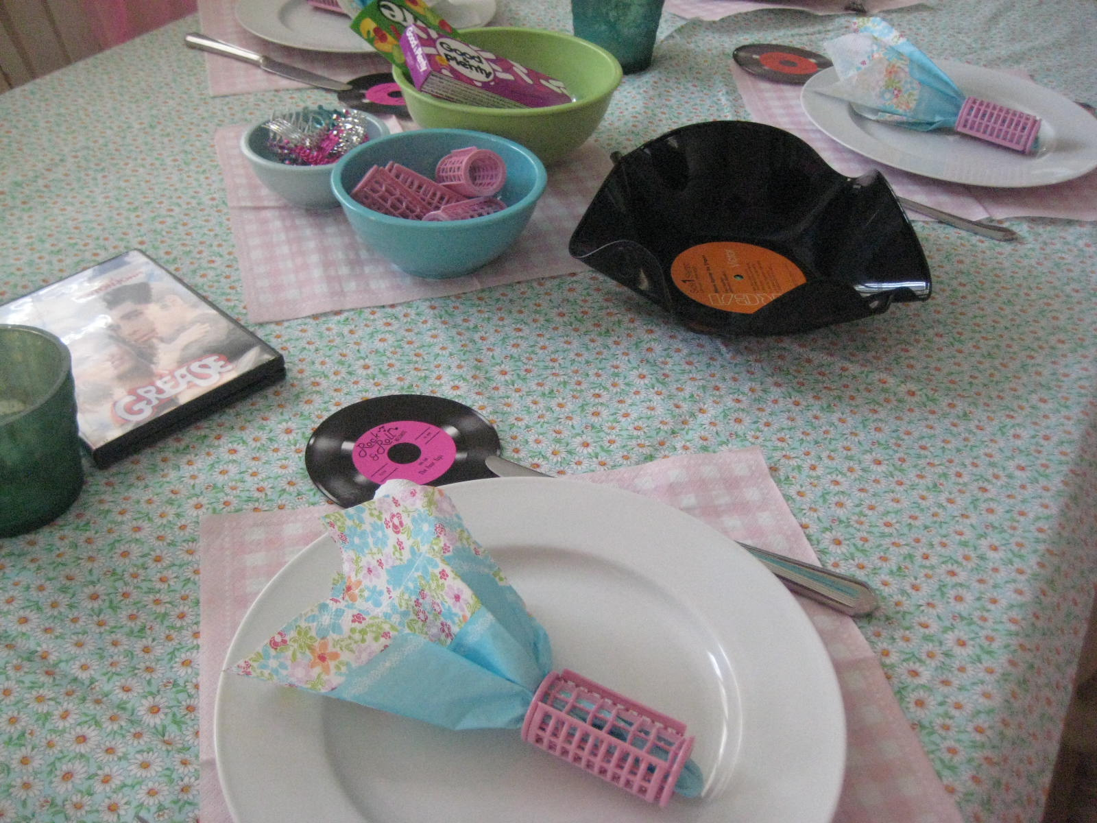 Creative party ideas by cheryl mother 39 s day grease party for 50 s party decoration ideas