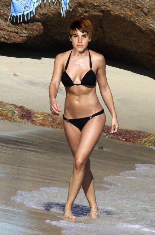 bieber in bikini