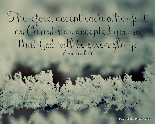 inspiring verse, god's word, loving others, winter, photography, snowflake, http://bec4-beyondthepicketfence.blogspot.com/2016/01/sunday-verses_16.html