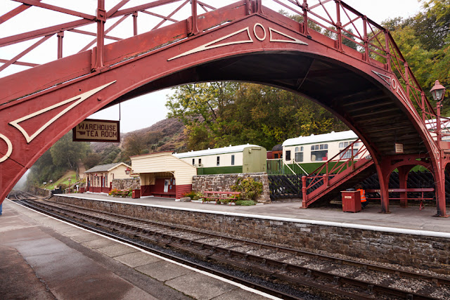 The station bridge at Goathland, used in the Harry Potter films by Martyn Ferry Photography