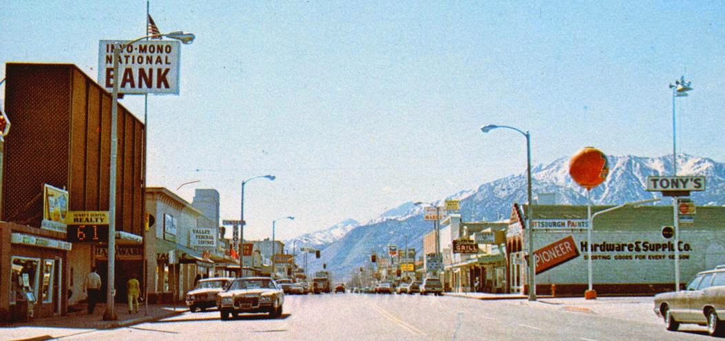 Bishop, California early 1970s postcard