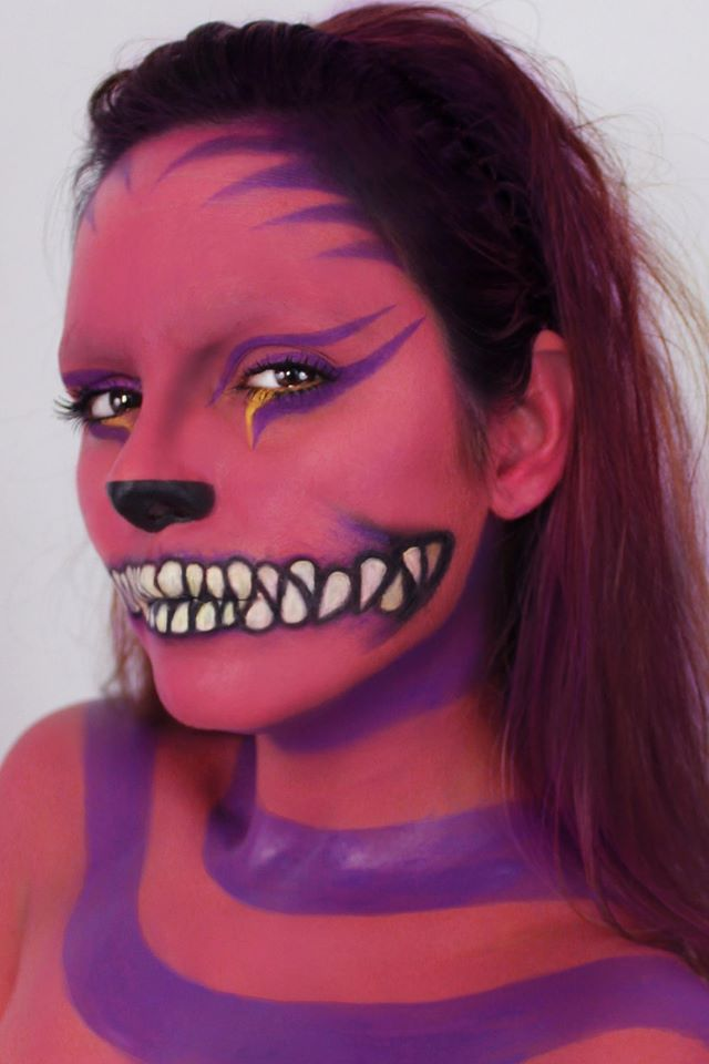 The Madness of the Cheshire Cat  31 Days of Halloween Makeup, hair and model: Ingrid M. Rivera IG: ingrid_makeup