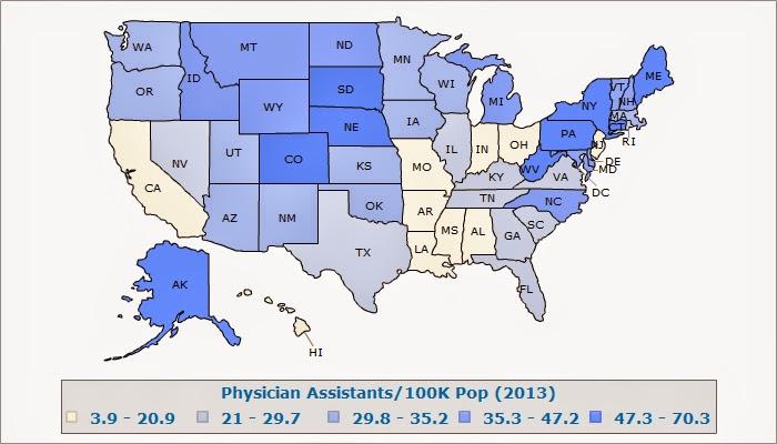 Physician Assistants per Capita
