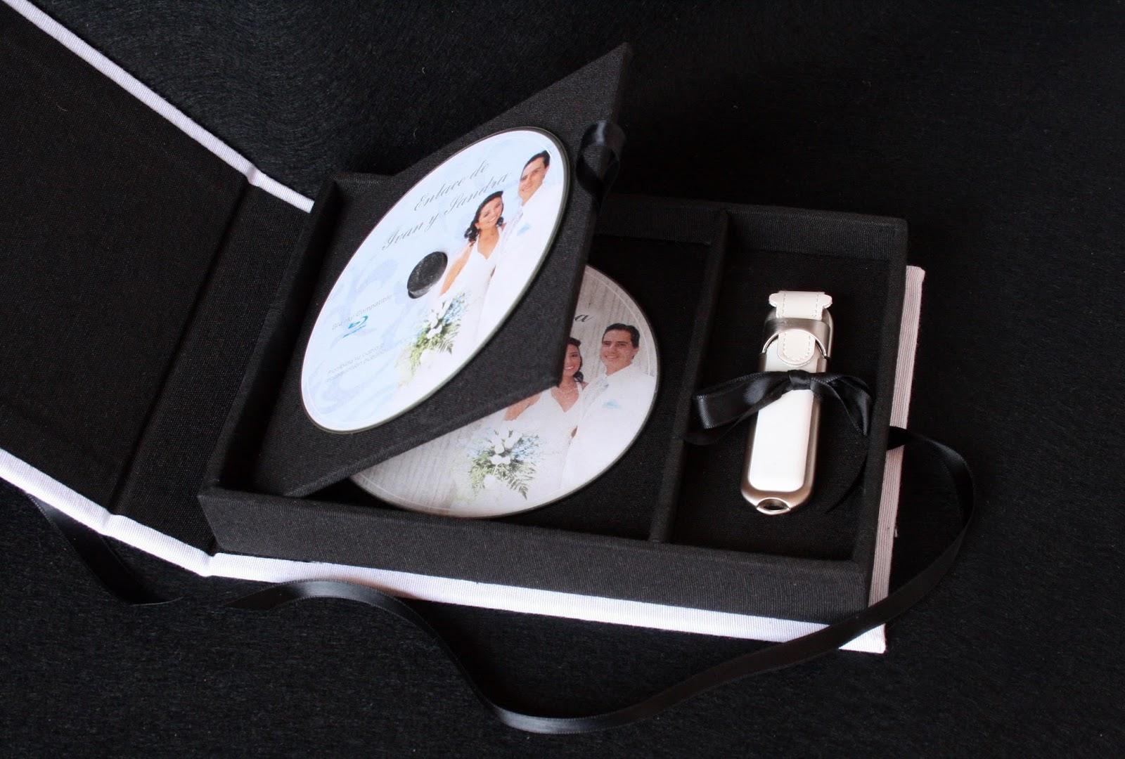 Caja para DVD y pendrive abierta 2