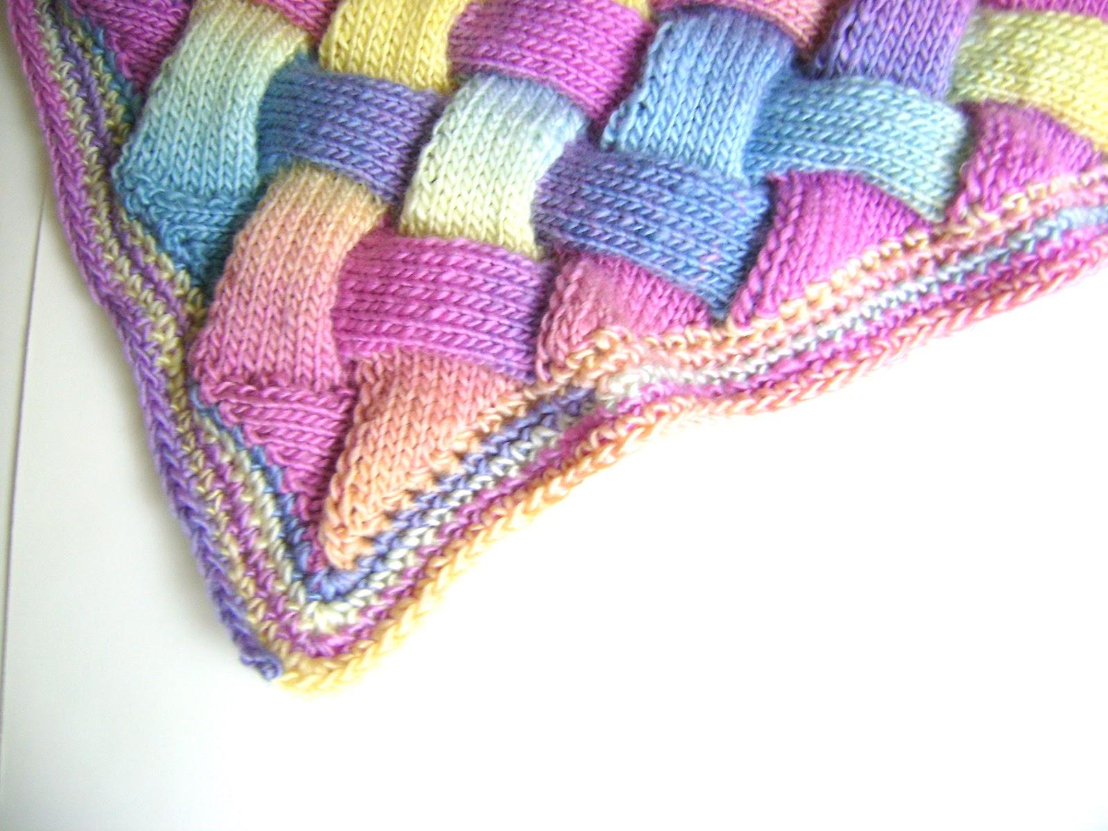 Entrelac Blanket Knitting Pattern : Creative Designs by Sheila Zachariae: Rainbow Entrelac Blanket