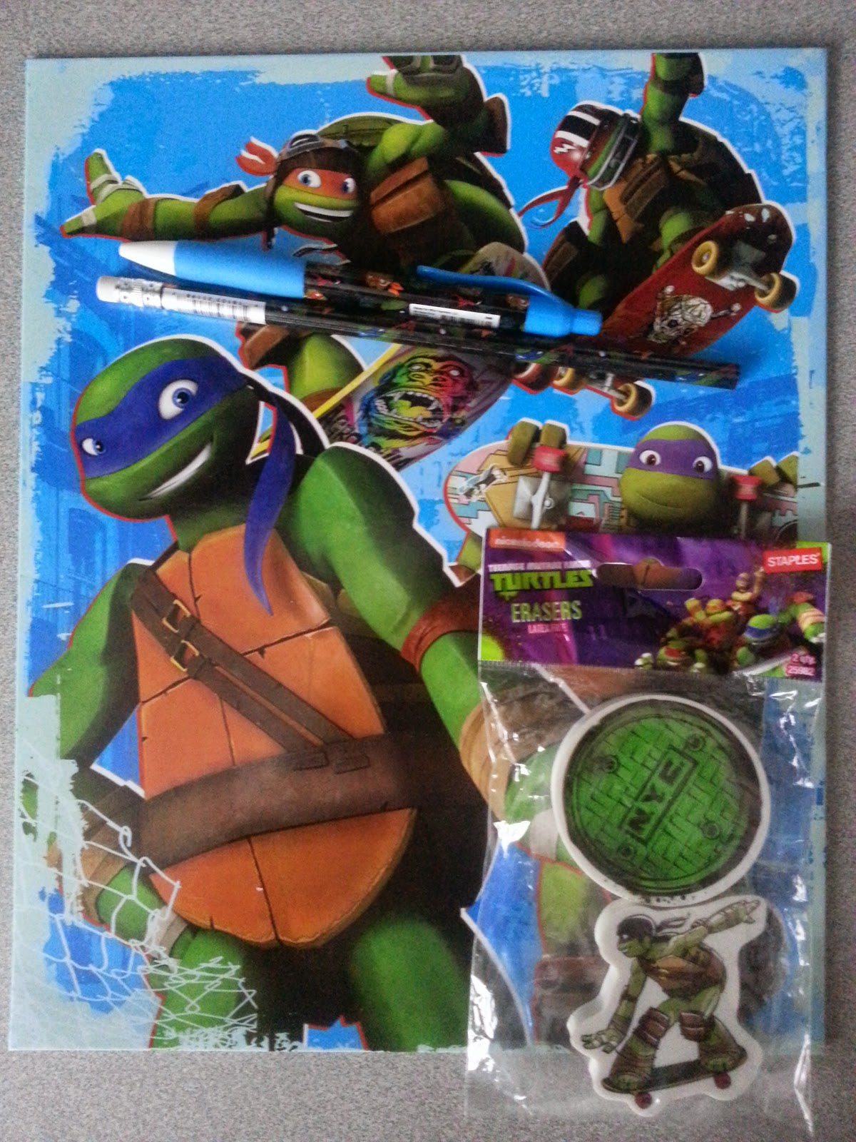 Teenage Mutant Ninja Turtles School Supplies