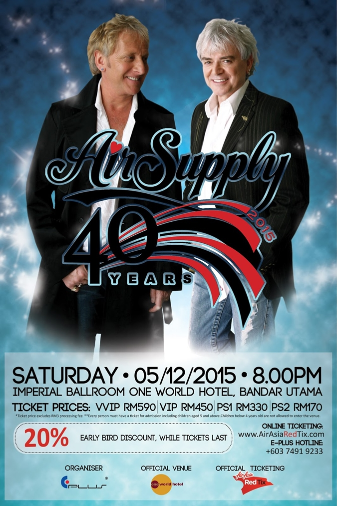 Air Supply live in Malaysia