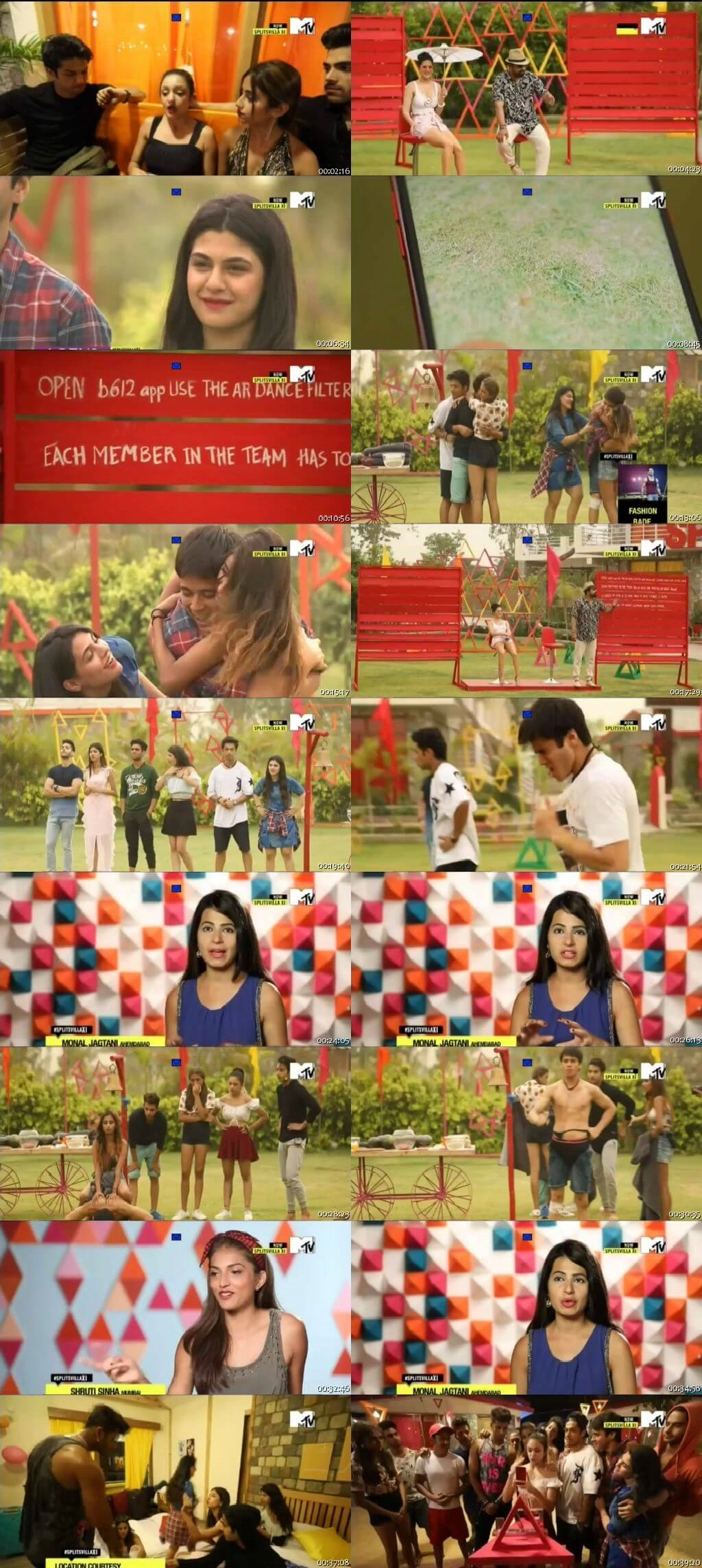 Screenshots Of Hindi Show Splitsvilla 11 23rd September 2018 Episode 07 300MB 720P HD