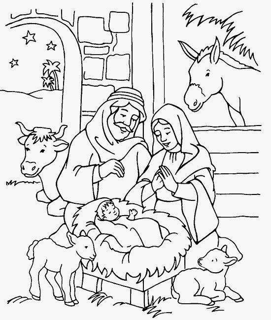 nacimientos navideos para colorear parte 4 dibujo de la sagrada familia