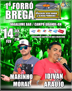 1° Forró Brega neste dia 14 de Fevereiro no Vagalume Bar em Campo Grande