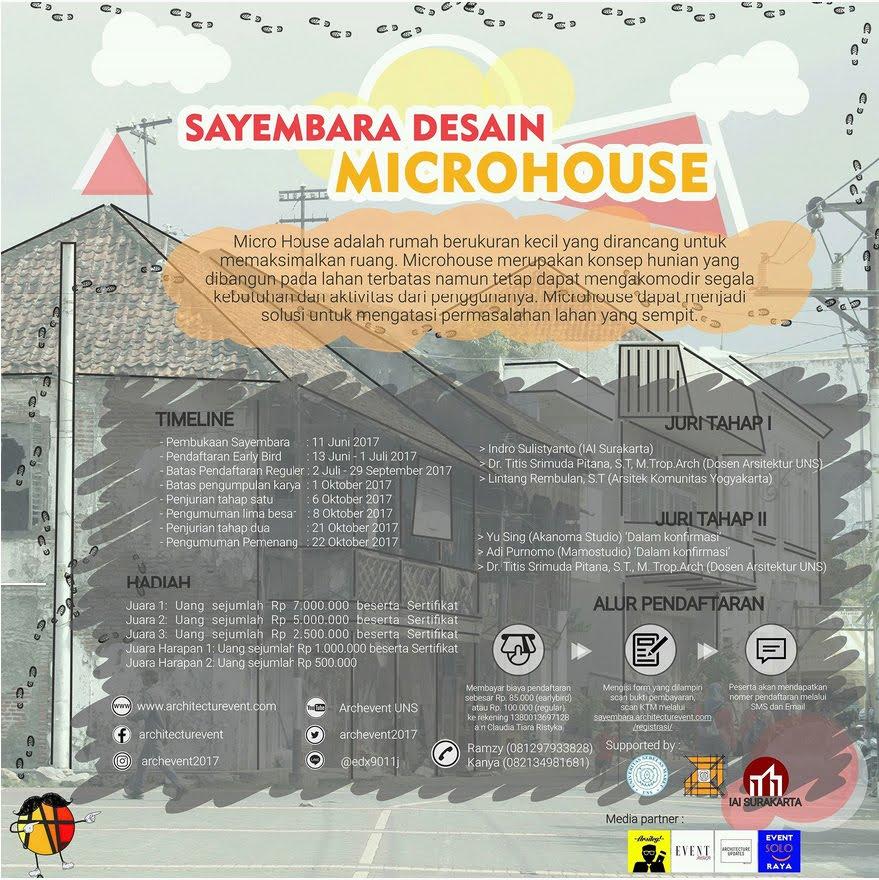 Sayembara Desain Microhouse 2017 Archevent UNS ARSIGRAF