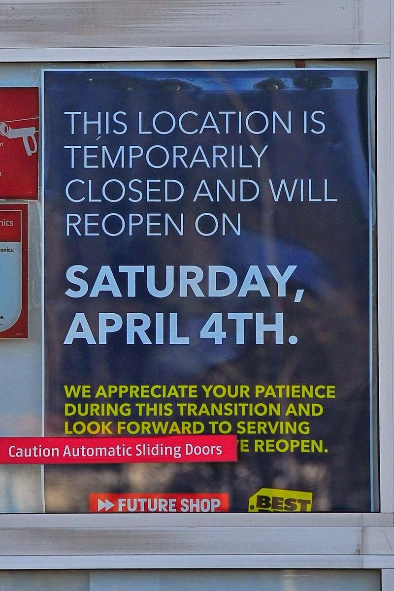 Nanaimo future shop to reopen April 4