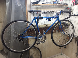 John S Bicycle Restorations Tim S Schwinn World Sport Powder Coat