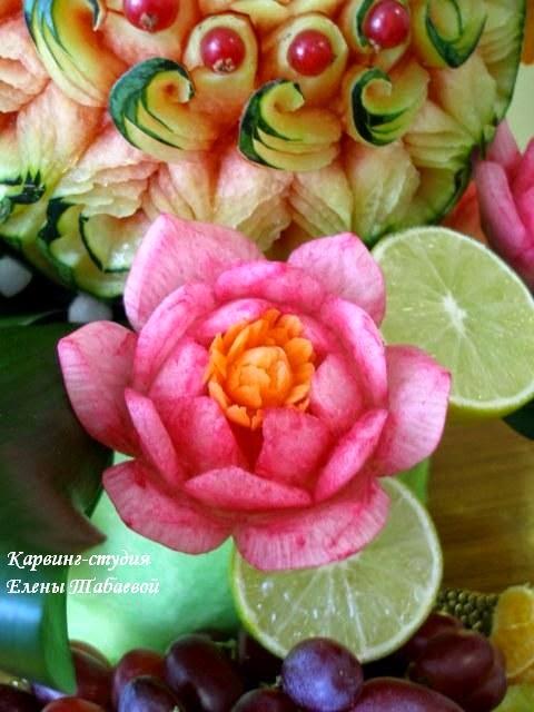 цветы из овощей кавринг