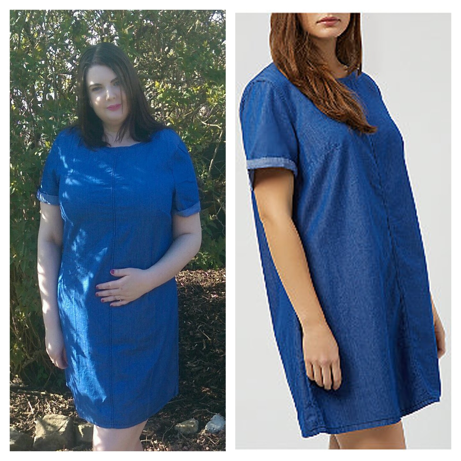 New Look Inspire Blue Denim Tunic Dress