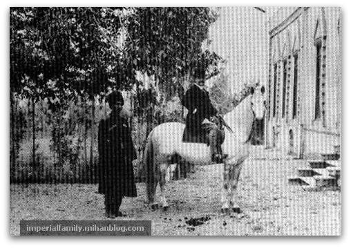 رضاشاه پهلوی (!) در اصطبل خانه سفارت انگلیس، مسئول جمع آوری پهن (!) اسب