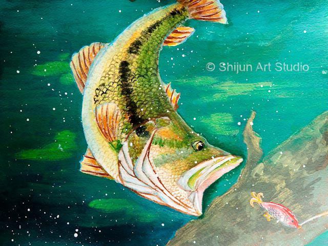 Shijun art studio wildlife forever state fish art contest for Georgia fish and wildlife
