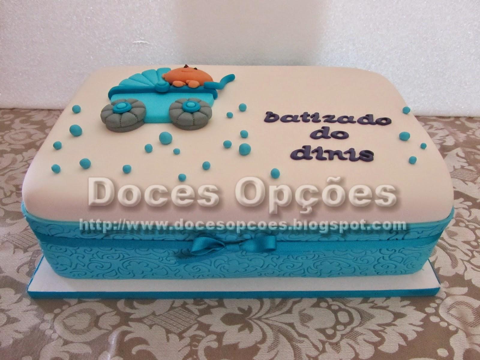 bolo batizado carrinho bebe bragança