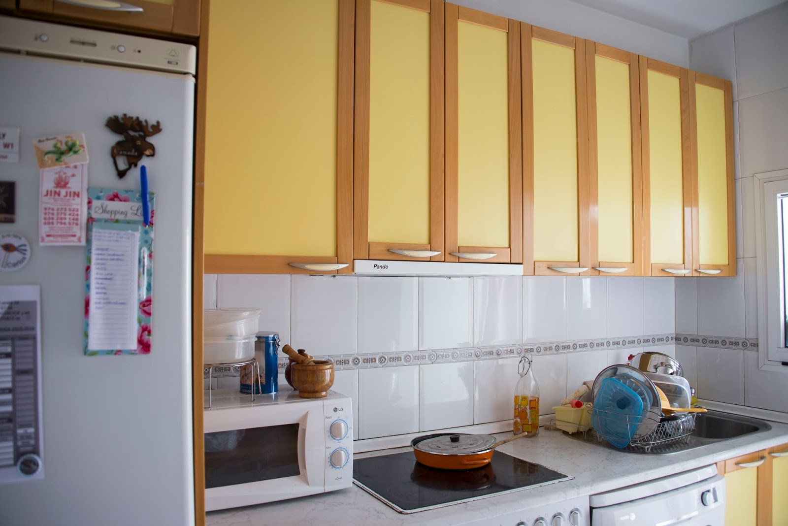 Como pintar mi cocina latest great pintar azulejos bao - Como pintar una pared ya pintada ...
