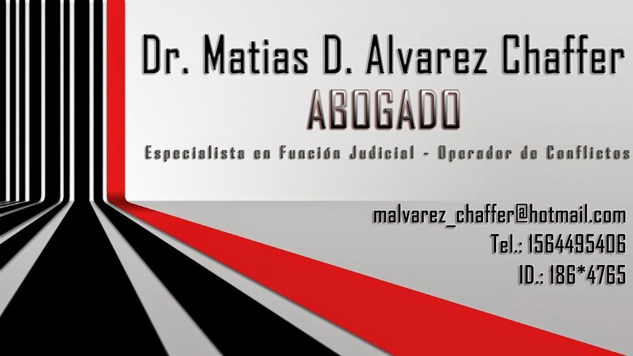 Dr. Matias D. Alvarez Chaffer - Abogado