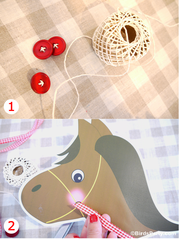 diy toy horse barnyard birthday photo booth props