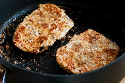 ... Kitchen®: Low-Carb Grain-Free Breaded Pork Chops with Mustard Sauce