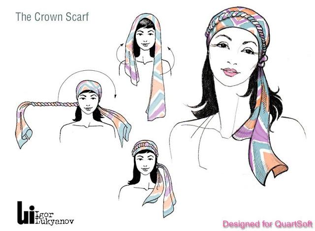 cómo poner un pañuelo en la cabeza