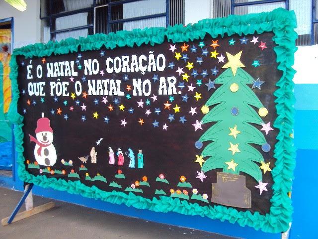 Tr s pedagogas com amor mural de natal for Mural de natal 4 ano