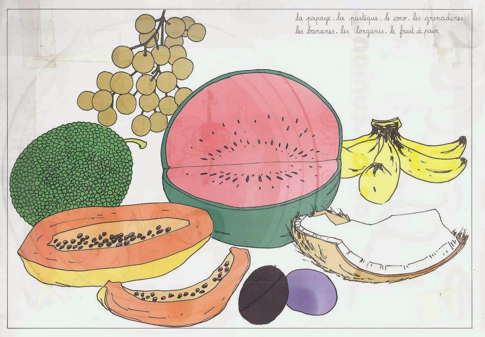 Le ons de choses images de la r union les fruits - Fruit de la ronce commune ...