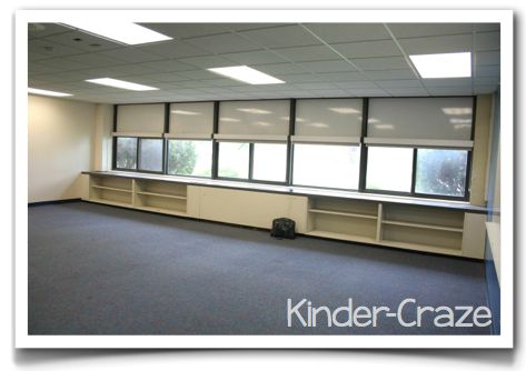 empty kindergarten room