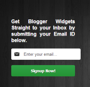 Professional Black Wood Email Subscription Box Widget For Blogger