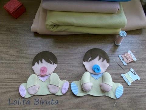Recortes em feltro bebês