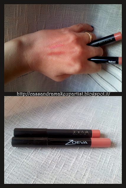 ZOEVA - Lip Crayon + -  lip crayon+ - novità news ZOEVA 2013 - recensione - review - inci - prezzo - price - reperibilità - swatch swatches - nuances - silly love - second chance - new vs old