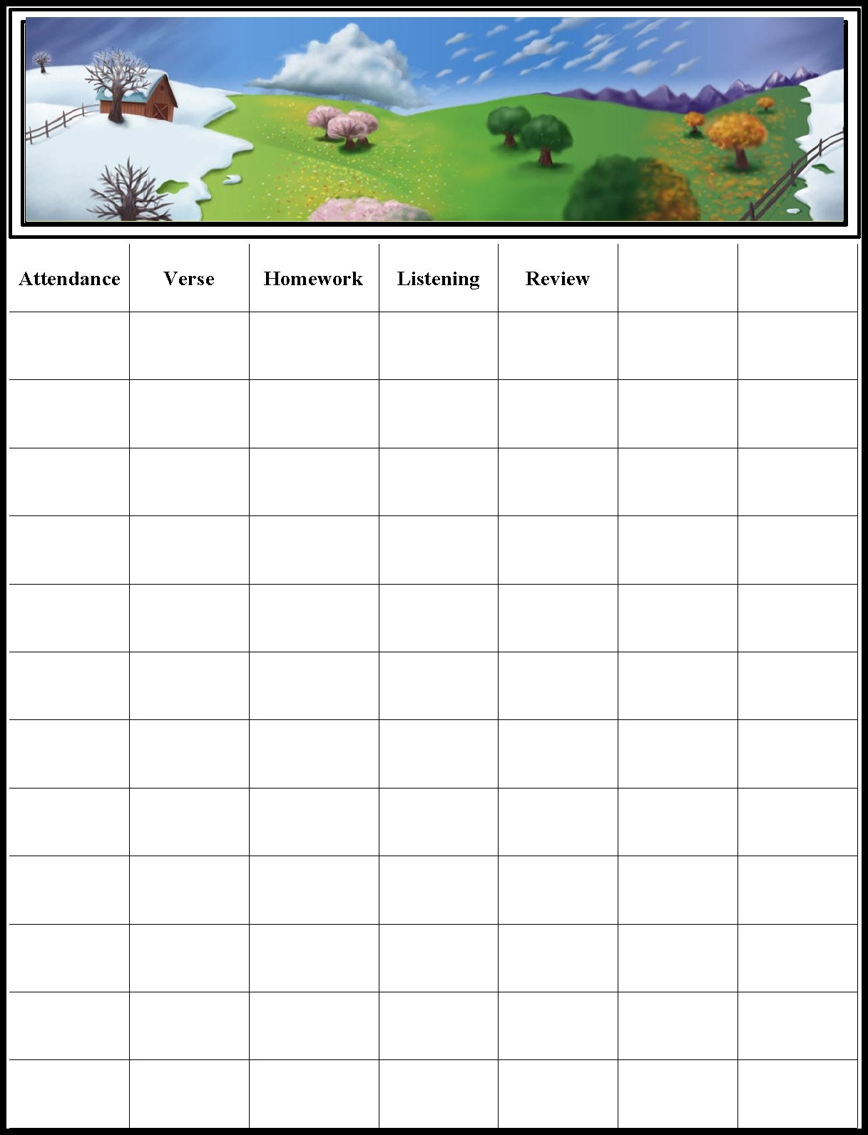 picture relating to Sunday School Attendance Chart Free Printable identified as Childrens Gems Within just My Treasure Box: Sunday College or university