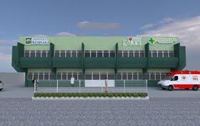 Frente do novo Hospital Geral de Acopiara