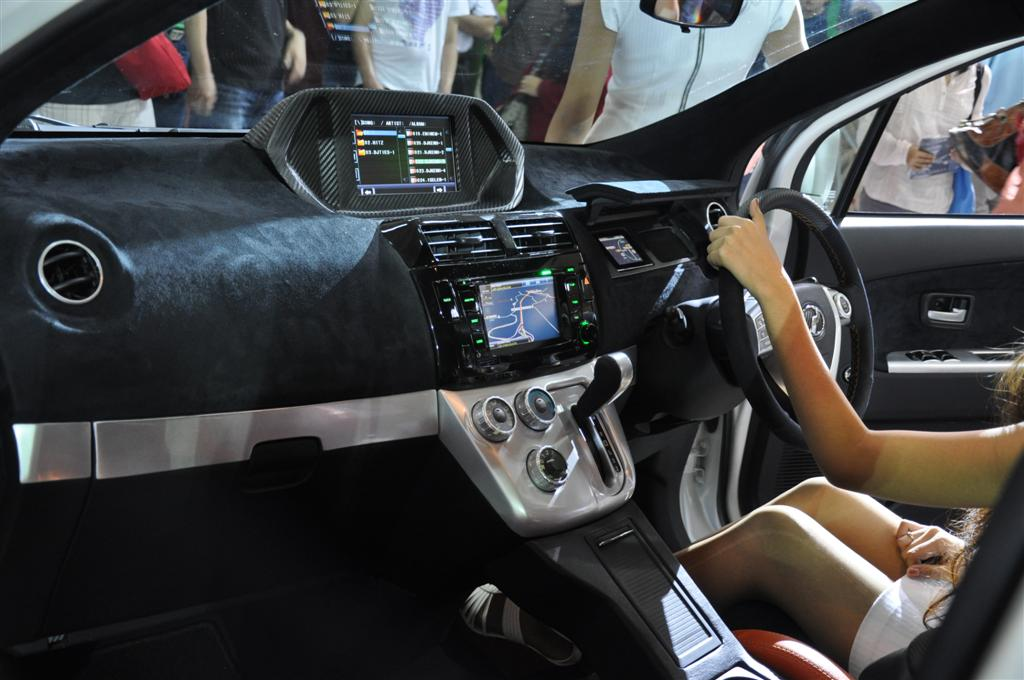 new concept headlight, two screens, a ipad dock and also a subwoofer
