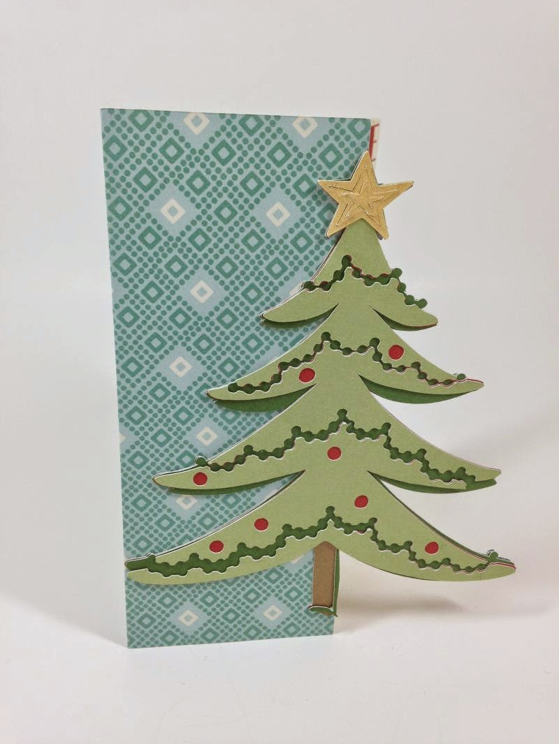 Cricut Peace and Love Christmas tree card