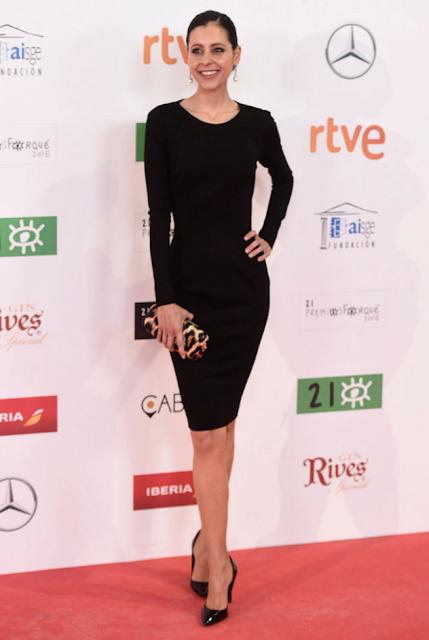 Yolanda Font en los Premios Forqué, enero 2016