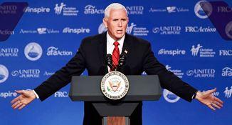 Mike Pence avertizează conservatorii creștini împotriva automulțumirii la alegerile din noiembrie