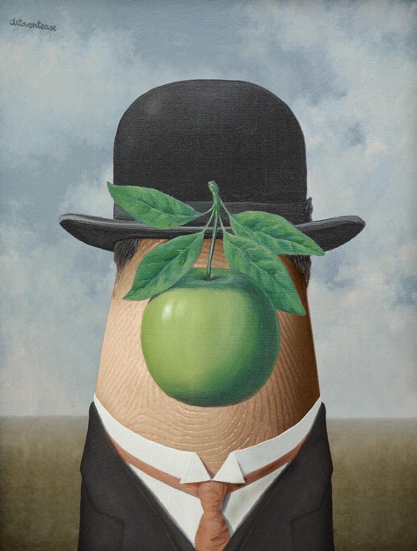 01-Magritte-Dito-von-Tease-Portraits-on-a-Finger-www-designstack-co
