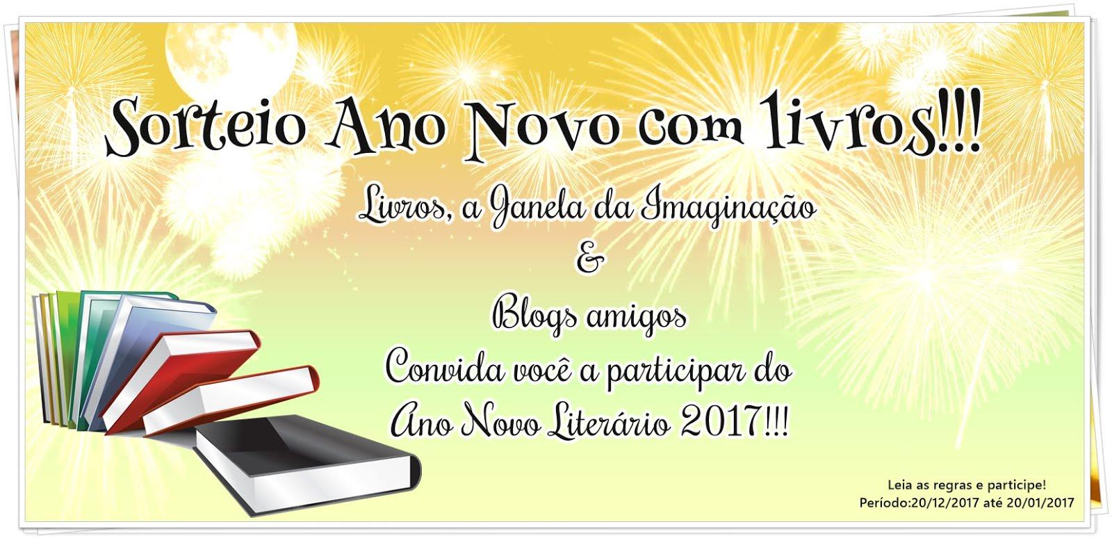 Sorteio Ano Novo com livros